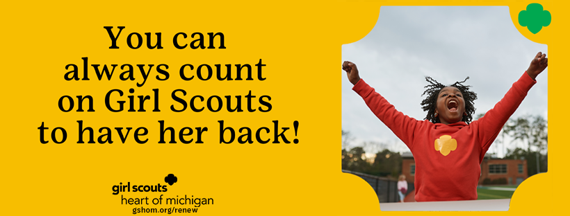 Facebook Banner - count on Girl Scouts