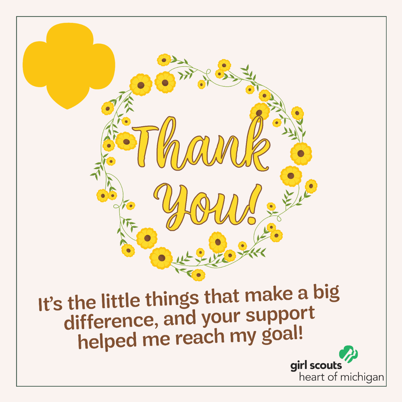 Thank You - Yellow Daisies